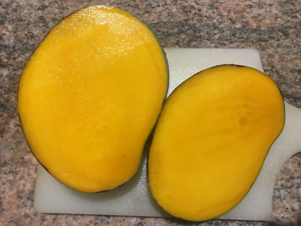 Keitt Mango Sliced Open