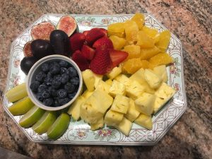 Fruit platter Horizon BnB Captain Cook Kona Hawaii