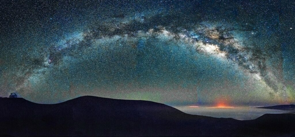 View of Milky Way from Hawaii