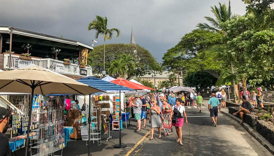 Kailua-Kona Stroll Big Island Hawaii Kona Street Market