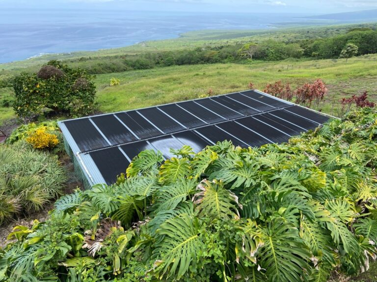 Solar hot water Horizon Guest House Big Island Hawaii