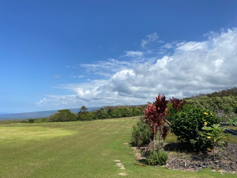 Wind and cloud patterns on the Big Island