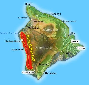 Kona Coffee Belt Big Island Hawaii